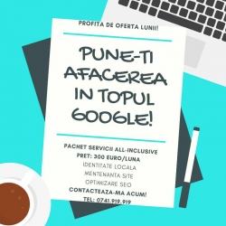Realizare site. Webdesign. Optimizare SEO. Mentenanta site. Promovare Google